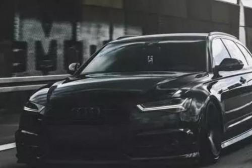 黑武士改装风格,奥迪A6 Avant秒变百万级别改装车